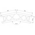 LiteTruss P3-M290, 2 Wege Winkel 157,5°, Spitze unten,  ACB 25