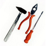 Werkzeugset XXL  3-teilig ( Hammer, Zange, Schraubendreher)