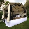 Bühne Zoom, 6x 4m. mitt Satteldach und Walm