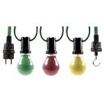 Lichterkette 230V, 15 Fassungen á 25W inkl. 20 Glühlampen
