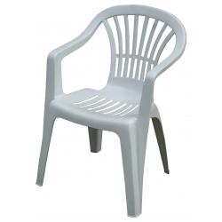 Monoblock-Stuhl, Weiß
