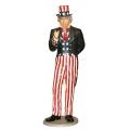 Uncle Sam XXL- Dekofigur 3m hoch, 2-teilig