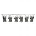 6er Bar PAR 64, silber, 300/500 Watt Raylight