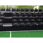 Tibünen Element 1 x 2m (40cm höhe) mit 4 Stadionsitzen (schwarz)
