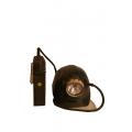 Bergbau-Helm mit Grubenlampe als Deko ( Replikat)