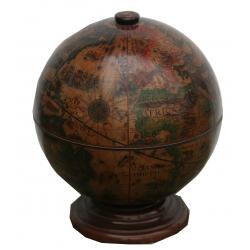 Nostalgischer Globus als Mini-Bar