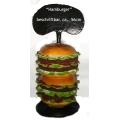Hamburger,  doppelt, auf Fuß,  beschriftbar,  38 x 56cm