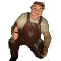 Dekofigur Winzer, (Weinbauer) GFK,  ca.70cm