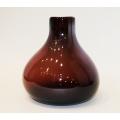 Vase, Glas violett 18 x 17 x 17