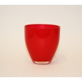 Windlicht Glas, rot 9 x 8,5 x 8,5