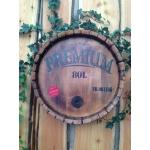 Deko Fass- Deckel, Holz mit Branding 50cm rund