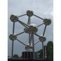 Dekoskulptur ATOMIUM (Belgien) im Maßstab 1:43 aus Edelstahl