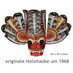 Mexikanische Holzmaske (handgeschnitzt um 1968) Mexiko-Deko
