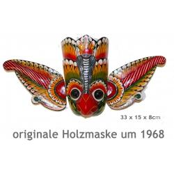 Mexikanische Holzmaske, (handgeschnitzt um 1968) Mexiko-Deko