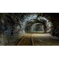 Banner Bergwerk, Tunnel Kurve 425 cm x 240 cm