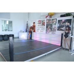 Boxring,4m x 4m, 20cm hoch, inklusive Eckpfeiler und Seil