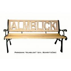 Parkbank, (Almblick) Gußeisern mit Holz (1,22m breite)